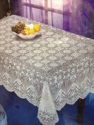 Home Products TABLECLOTH-C-90 150cm . x 230cm . Crochet Look Vinyl Tablecloth