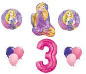 Disney Princess Rapunzel Tangled 3rd Birthday 10 Piece Balloon Set