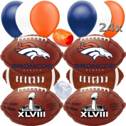 Denver Broncos NFL Football Super Bowl Balloons Decorating Ultimate Pack 17pc Kit