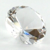 Beautiful Gaint Birthstones Paperweight Glass Diamond 7.6cm Crystal, Clear