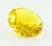 Beautiful Gaint Birthstones Paperweight Glass Diamond 7.6cm Crystal, Yellow