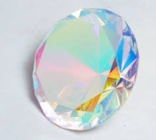 Beautiful Gaint Birthstones Paperweight Glass Diamond 7.6cm Crystal, Rainbow