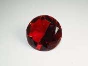 Beautiful Gaint Birthstones Paperweight Glass Diamond 7.6cm Crystal, Ruby