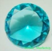 Beautiful Gaint Birthstones Paperweight Glass Diamond 7.6cm Crystal, Teal