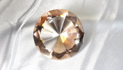 Beautiful Gaint Birthstones Paperweight Glass Diamond 80mm Crystal, Light Orange