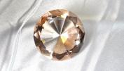Beautiful Gaint Birthstones Paperweight Glass Diamond 80mm Crystal, Light Orange