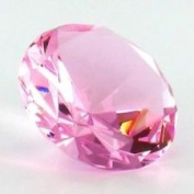 Beautiful Gaint Birthstones Paperweight Glass Diamond 80mm Crystal, Light Pink