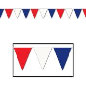 Outdoor Pennant Banner (red, white, blue) Party Accessory (1 count)