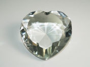 Beautiful Heart Birthstones Paperweight Glass Diamond 7.6cm Crystal, Clear