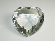Beautiful Heart Birthstones Paperweight Glass Diamond 7.6cm Crystal, Clear