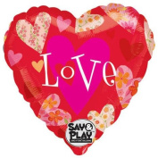 Floral Hearts Love Say & Play 80cm Mylar Balloon