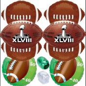 Super Bowl XLVIII (48) NYNJ 2014 NFL Foil Mylar Balloon Ultimate Party Pack 10pc