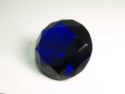 Beautiful Gaint Birthstones Paperweight Glass Diamond 10cm Crystal, Dark Blue