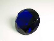 Beautiful Gaint Birthstones Paperweight Glass Diamond 10cm Crystal, Dark Blue