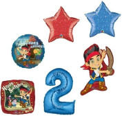 JAKE & the NEVER Land PIRATES #2 2nd Birthday Party Supplies Mylar BALLOONS Set