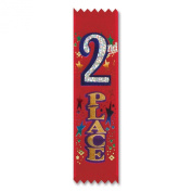 Beistle VP002 2nd Place Value Pack Ribbons, 14cm by 39cm , 30-Pack