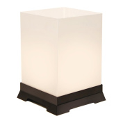 JH Specialties 63712 Plastic Tabletop Lanterns with Black Base - 12 Ct