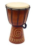 Rustic Tiki Hawaiian Tribal Drum - 30cm