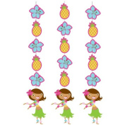Creative Converting Pink Luau Fun 3 Count Hanging Cutouts Party Decoration
