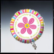 Creative Converting Pink Flower Cheer Metallic Balloon, 46cm