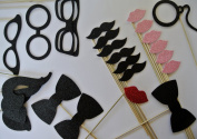 24 Piece Photo Booth Party Supply Moustache on a Stick Special Occasions Props Fun Props