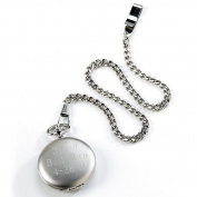 Silver Brushed Pocket Watch - GC225