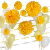 Party Decoration Kit - Yellow and White Party Supplies