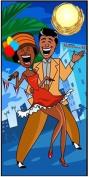 Carnaval in Havana Party Banner 180cm x 90cm
