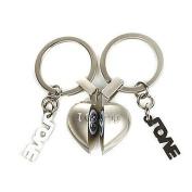 "Heart Design Audible Keychain Saying ""I Love U"""
