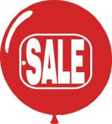 "Red & White ""SALE"" Balloons"