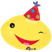 46cm Birthday Smiley Face Junior Shape