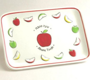 Rite Lite HDA-3 Ceramic Shana Tova Apple Plate - Pack Of 6