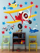 Party Destination 191751 Aeroplane Adventure Giant Wall Decals