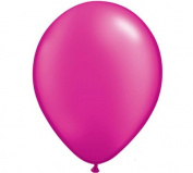 20 PACK PEARL MAGENTA 13cm BALLOON WEDDING SHOWER BIRTHDAY BABY