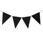Koyal Wholesale Reusable Wooden Chalkboard Pennant Flag Banners