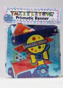 Rite Lite MTB-13173-B Large Mazel Tov Baby Boy Colourful Prismatic Banner - Pack Of 12