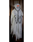 Fun World 5 Ft Hanging Reaper With Light Up Eyes White One Size