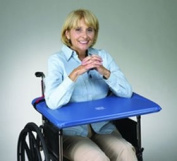 SkiL-Care Bariatric SofTop Laptray, fits 50cm - 60cm Wheelchair, Blue Vinyl