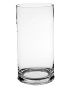 Koyal Wholesale 404337 12-Pack Cylinder Glass Vases, 10cm by 25cm