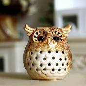 Home Decoration Gift Owl Ceramic Candle Holder