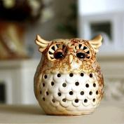 Home Decoration Gift Owl Ceramic Candle Holder