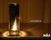Infinity Mirage Glass Votive