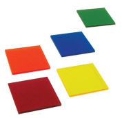 Colour filters Acrylic - Set of Five Colours 5.1cm x 5.1cm Slabs