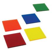Colour filters Acrylic - Set of Five Colours 5.1cm x 5.1cm Slabs