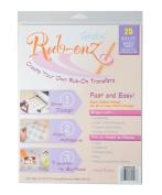 Grafix Clear Rub-Onz 22cm by 28cm Inkjet-Laser Film, 25-Pack