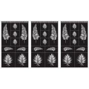 Armour Products Rub 'n' Etch Glass Etching Stencils 13cm x 20cm 3/Pkg Fern Designs 12-7012