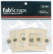Fabscraps Cardstock Mini Frames Sand/Square with Eyelets, 3 Per Package