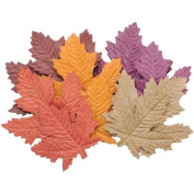 Bazzill Paper Flowers-Harvest Leaves 4.4cm To 5.7cm 10/Pkg