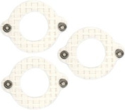 Fabscraps Cardstock Mini Frames Cream/Round with Eyelets, 3 Per Package