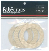 Fabscraps Cardstock Mini Frames Sand/Round, 3 Per Package